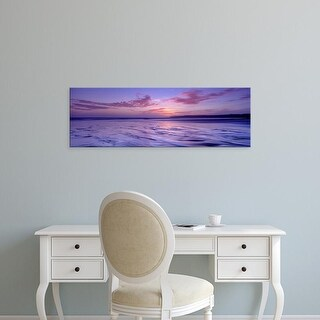 Easy Art Prints Panoramic Images's 'Frozen Water In A Bay, Filey Bay, Yorkshire, England, United Kingdom' Canvas Art