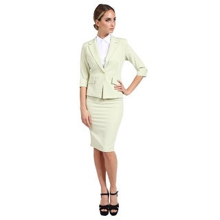 NE PEOPLE Women's Formal Business Work Blazer and Skirt Suit Set