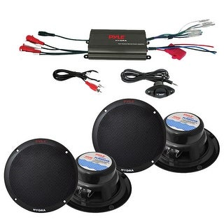 """Pyle Marine 800W 4CH Amp and 6.5"""" Speaker System"""