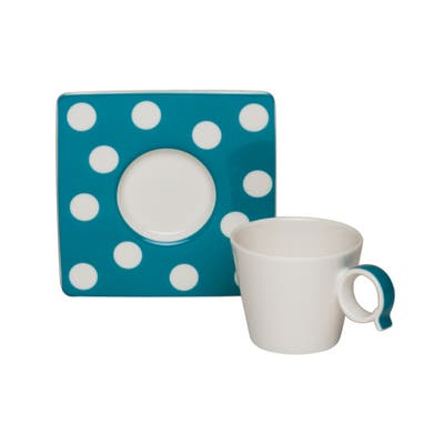 Freshness Dots Turquoise Espresso Cup / Saucer Set of 4