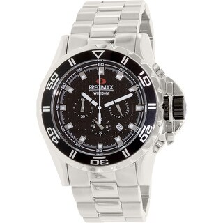 Precimax Men's Carbon Pro PX12201 Silver Stainless-Steel Plated Dress Watch