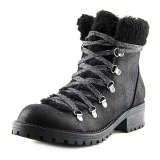Madden Girl Bunt Round Toe Canvas Combat Boot
