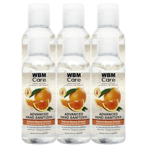 WBM Care Hand Cleaning Gel with Blood Orange - 3.5 fl oz Each (Pack of 6)