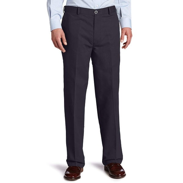 Dockers Mens Pants Navy Blue Size 42x30 Flat Front Relaxed Fit Stretch. Opens flyout.