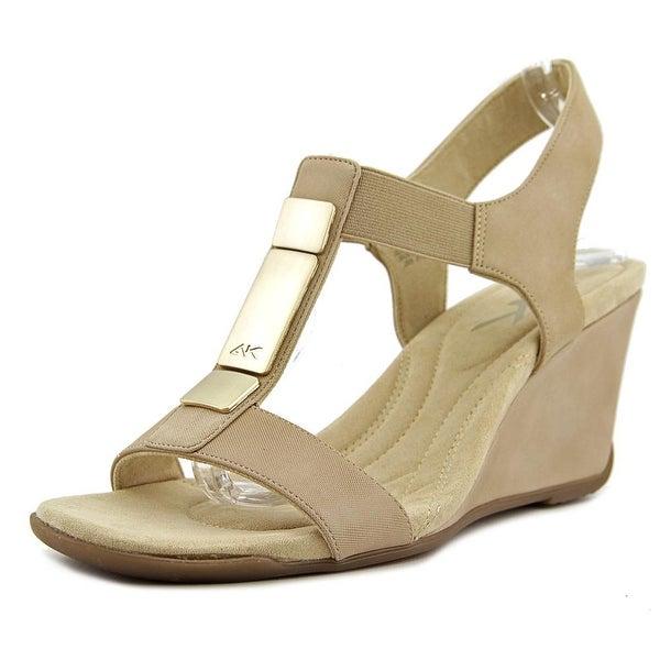 Anne Klein Sport Loona Open Toe Synthetic Wedge Sandal