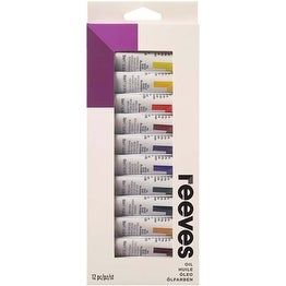 Assorted Colors - Reeves Oil Colour 10Ml 12/Pkg