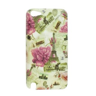 Plastic IMD Eiffel Tower Pattern Hard Back Case Protector for iPod Touch 5 5th