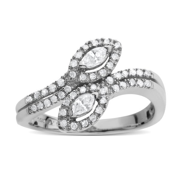 1/3 ct Diamond Ring in 14K White Gold - Size 7