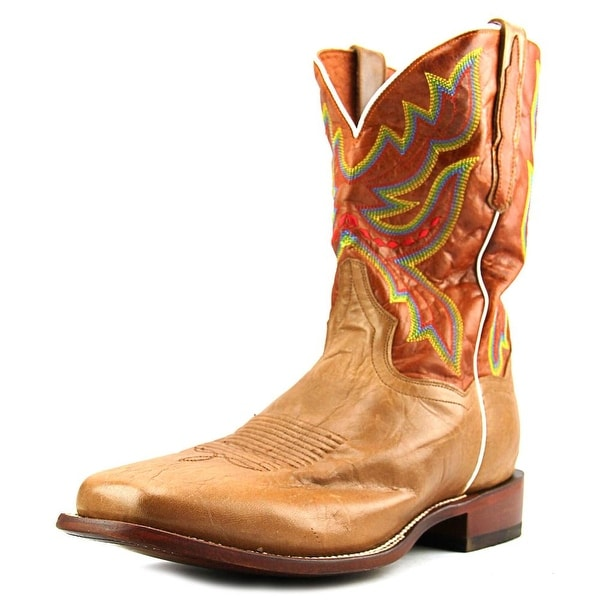 Dan Post Ezra EW Square Toe Leather Western Boot