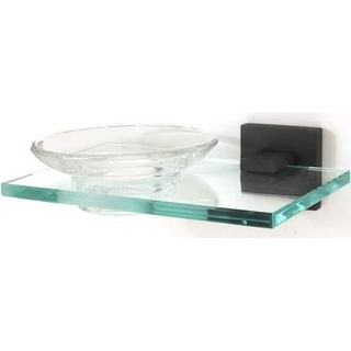 Alno A8430 Glass Wall Mounted Soap Dish from the Contemporary II Collection