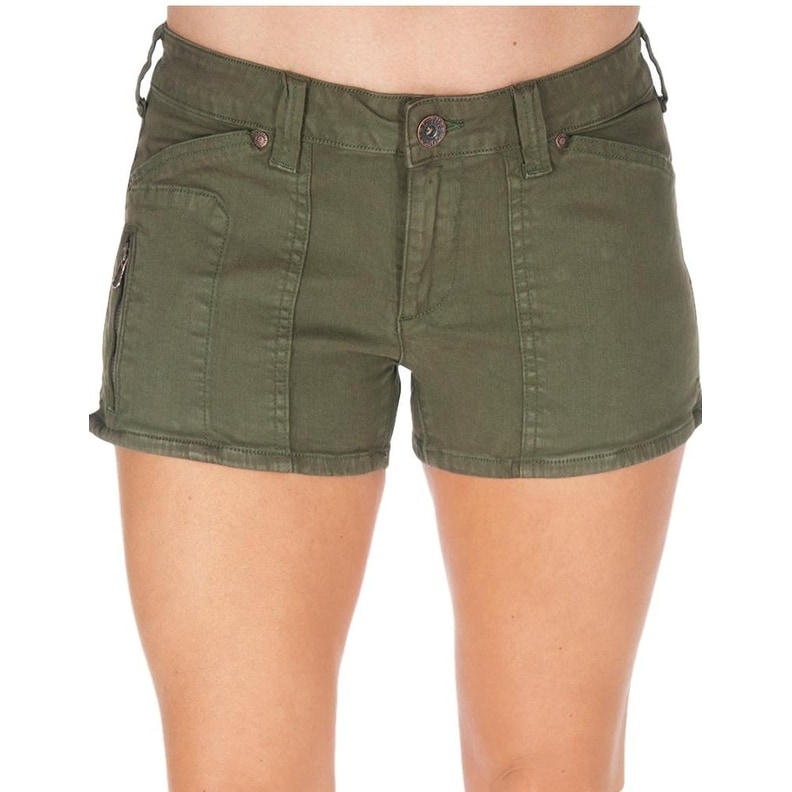 Cowgirl Tuff Western Shorts Womens Forest Relaxed Green