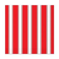 Club Pack of 192 Red & White Stripes Party Disposable 2-Ply Luncheon Napkins