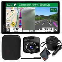 "Garmin DriveSmart 65 & Traffic 6.95"" Display GPS Navigator with Carrying Case/DashCam + More"