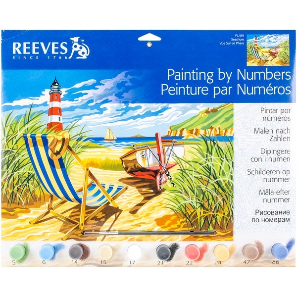 """Paint By Number Kit 12""""X16""""-Seashore"""