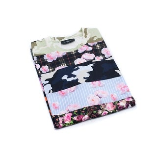 Givenchy Men's Multicolor Floral Printed T-Shirt