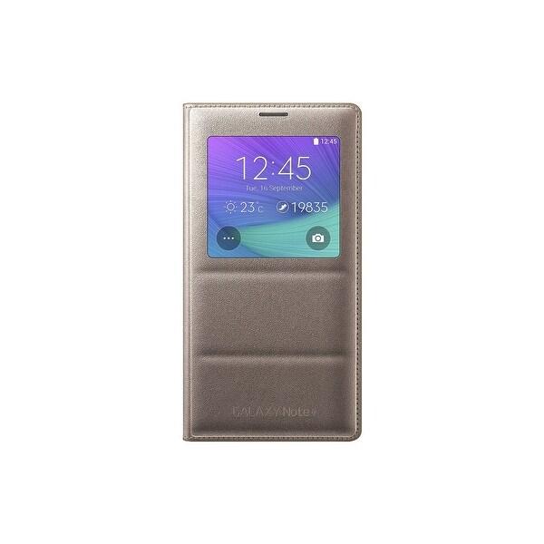 Samsung S-View Flip Cover Samsung Galaxy Note 4 (Gold) - EF-CN910BEESTA