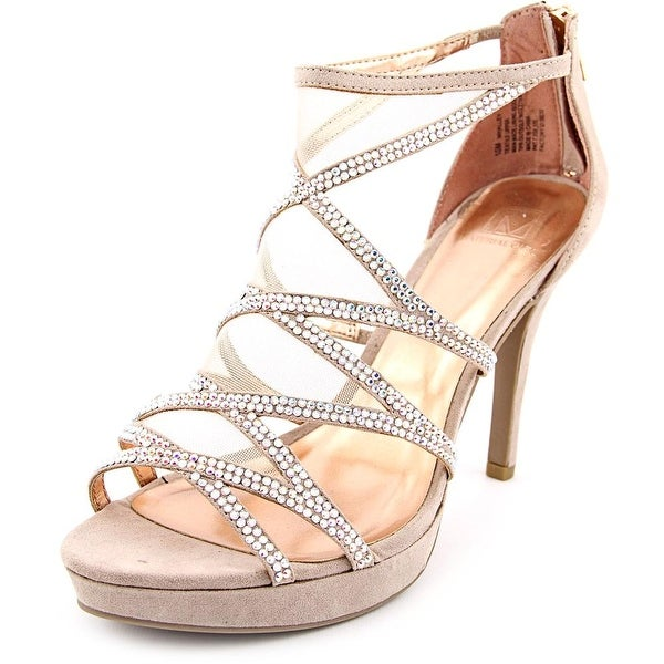 Material Girl Halley Open Toe Canvas Platform Sandal