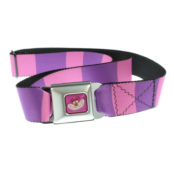 Disney Alice In Wonderland Cheshire Cat Stripe Seat Belt Belt-Holds Pants Up