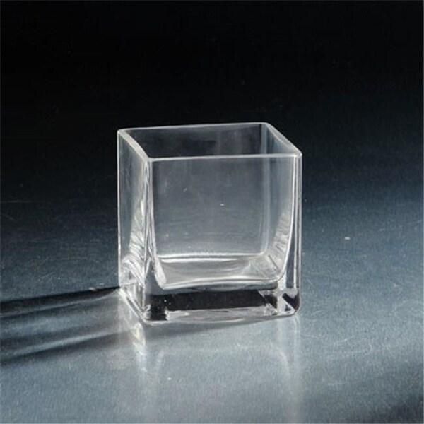 Diamond Star 08804C 4 x 4 x 4 in. Square Glass Votive Clear