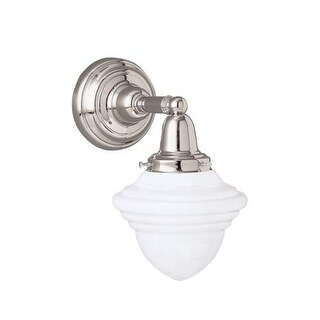 "Norwell Lighting 8201 Bradford 11"" Tall Single Light Bathroom Sconce with White Glass Shade"