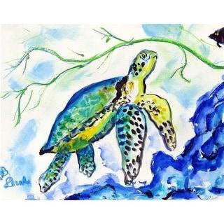 Betsy Drake DM833G 30 x 50 in. Yellow Sea Turtle Doormat