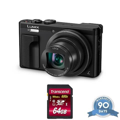 Panasonic Lumix DMC-ZS60 Digital Camera (Black) - with Memory Card -