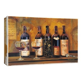 """PTM Images 9-153835  PTM Canvas Collection 8"""" x 10"""" - """"Cellar Reds"""" Giclee Wine Art Print on Canvas"""