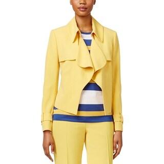 Anne Klein Womens Blazer Hook/Eye Front Long Sleeves