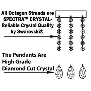Swarovski Crystal Trimmed Chandelier H30 x W28