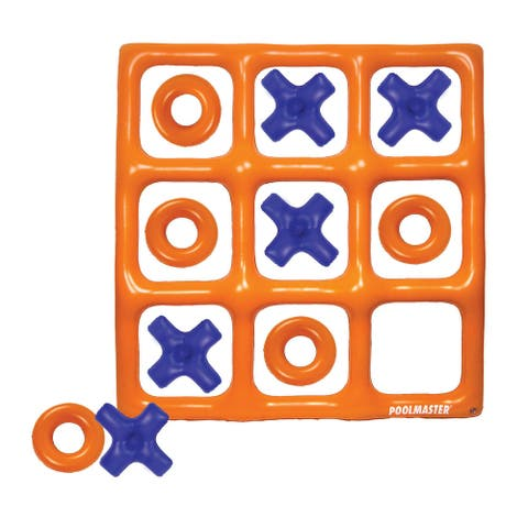 """48"""" Orange and Blue Reversible Tic Tac Toe Inflatable Pool Game"""