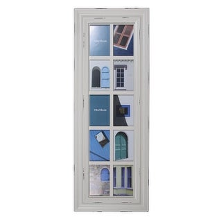 """Link to 35"""" Distressed Windowpane Photo Collage Frame Wall Decor Similar Items in Decorative Accessories"""