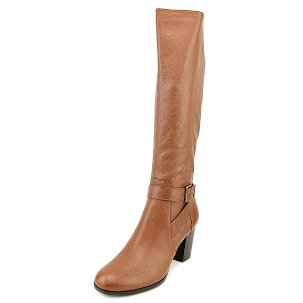 Cole Haan Hinckley Boot II Women Round Toe Leather Brown Knee High Boot