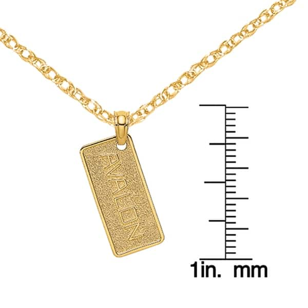 14K Yellow Gold 2-D WINE GLASS Charm Pendant
