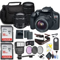 Canon Rebel T6 Camera with 18-55mm & 75-300mm Lens Accessories Bundle