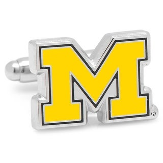 University of Michigan Wolverines Cufflinks - Yellow