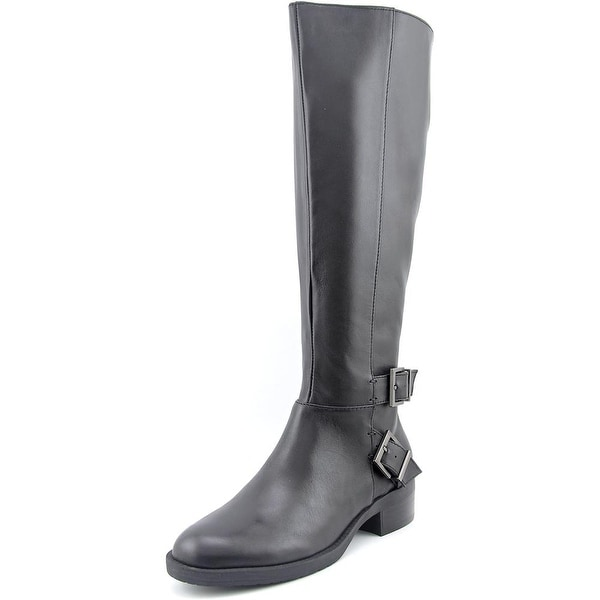 Kenneth Cole Reaction Pod Town Women Round Toe Leather Knee High Boot