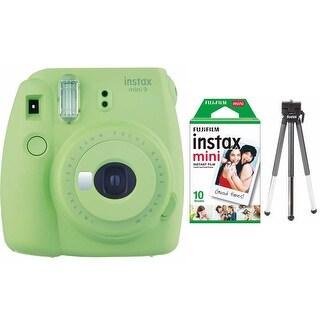Fujifilm Instax Mini 9 (Lime Green) w/ Single Foil Pack Film & Tripod Kit