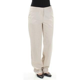 TOMMY HILFIGER $89 Womens New 1227 Beige Trouser Wear To Work Pants 2 B+B