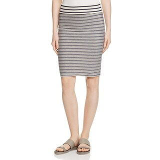 Three Dots Womens Pencil Skirt French Terry Striped - XL