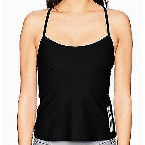 6652467c48b2f Shop Adidas Black Women's Size XL Tankini Top Lace-Up Side-Stripe Swimwear  - Free Shipping On Orders Over $45 - Overstock - 27989807