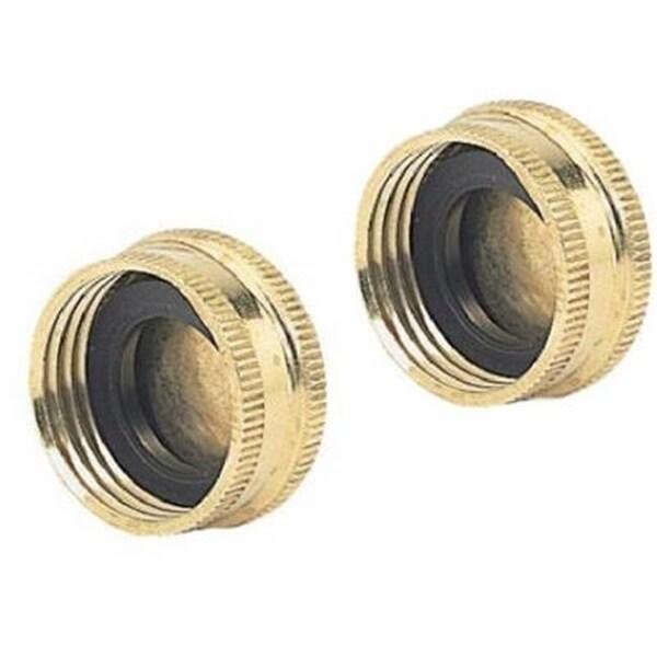 Fiskars 581225 Green Thumb Brass Hose Caps 2 Per Pack