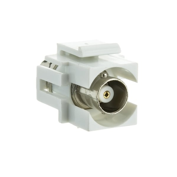 Offex Keystone Insert, White, BNC Female Coupler