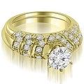 1.85 cttw. 14K Yellow Gold Antique Round Cut Diamond Bridal Set - Thumbnail 0
