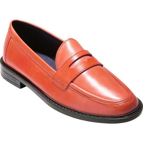5d80ee64b6f Cole Haan Women s Pinch Campus Penny Loafer Flame Leather