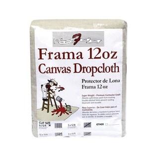 Trimaco 1201 Frama Canvas Dropcloth, 12 Oz, 9' x 12'
