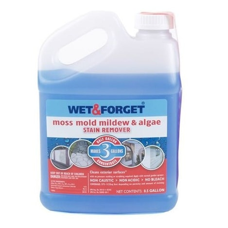 Wet & Forget 800003 Moss Mold & Mildew Stain Remover, Concentrate, 1/2 Gallon