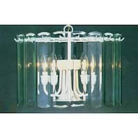 Volume Lighting V3038 5 Light 1 Tier Chandelier with Clear Beveled Glass Shade