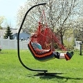 Sunnydaze Hanging Soft Cushioned Hammock Chair with Footrest - Thumbnail 4