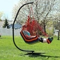 Sunnydaze Hanging Soft Cushioned Hammock Chair with Footrest - Thumbnail 7