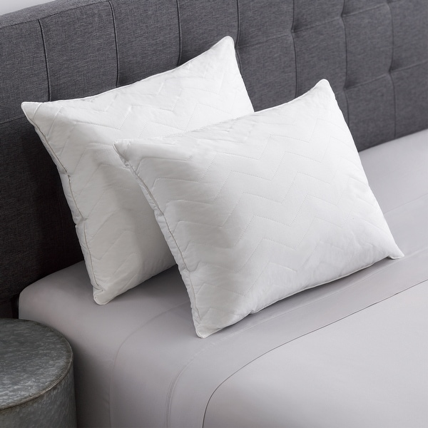 Cozy Classics Hotel Collection 230 Thread Count Cotton Quilted Pillow. Opens flyout.